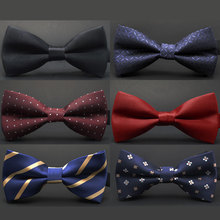 New fashion tuxedo bow font b tie b font font b men b font red and