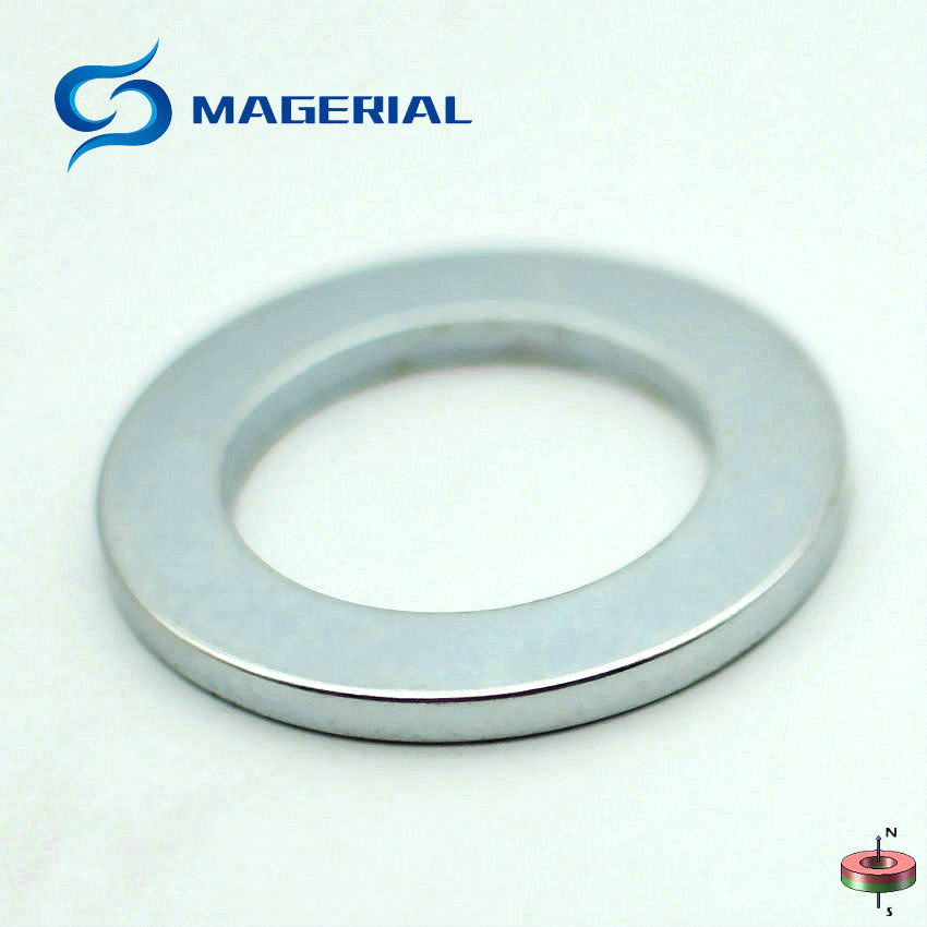 2-30pcs NdFeB N42 Axially Magnetized Magnet Ring OD 49.5x32x4 mm about 1.95'' Large Strong Neodymium Permanent Rare Earth Magnet 1 pack grade n38 ndfeb micro ring diameter od 9 5x4x0 95 mm 0 37 strong axially magnetized nicuni coated rare earth magnet