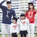 Fashion Family Clothing Hoodies LOVE Pattern Family Look Mother/Mom Daughter Clothes Father Son Matching Clothing Family Style