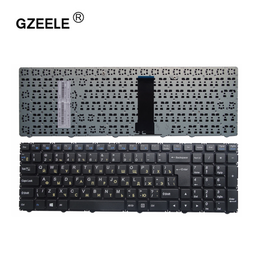 GZEELE Russian Keyboard For Clevo WA50SFQ WA50SHQ WA50SJQ WA50SRQ series Laptop Russian MP-13Q56SU-4301 6-80-WA500-281-1 black