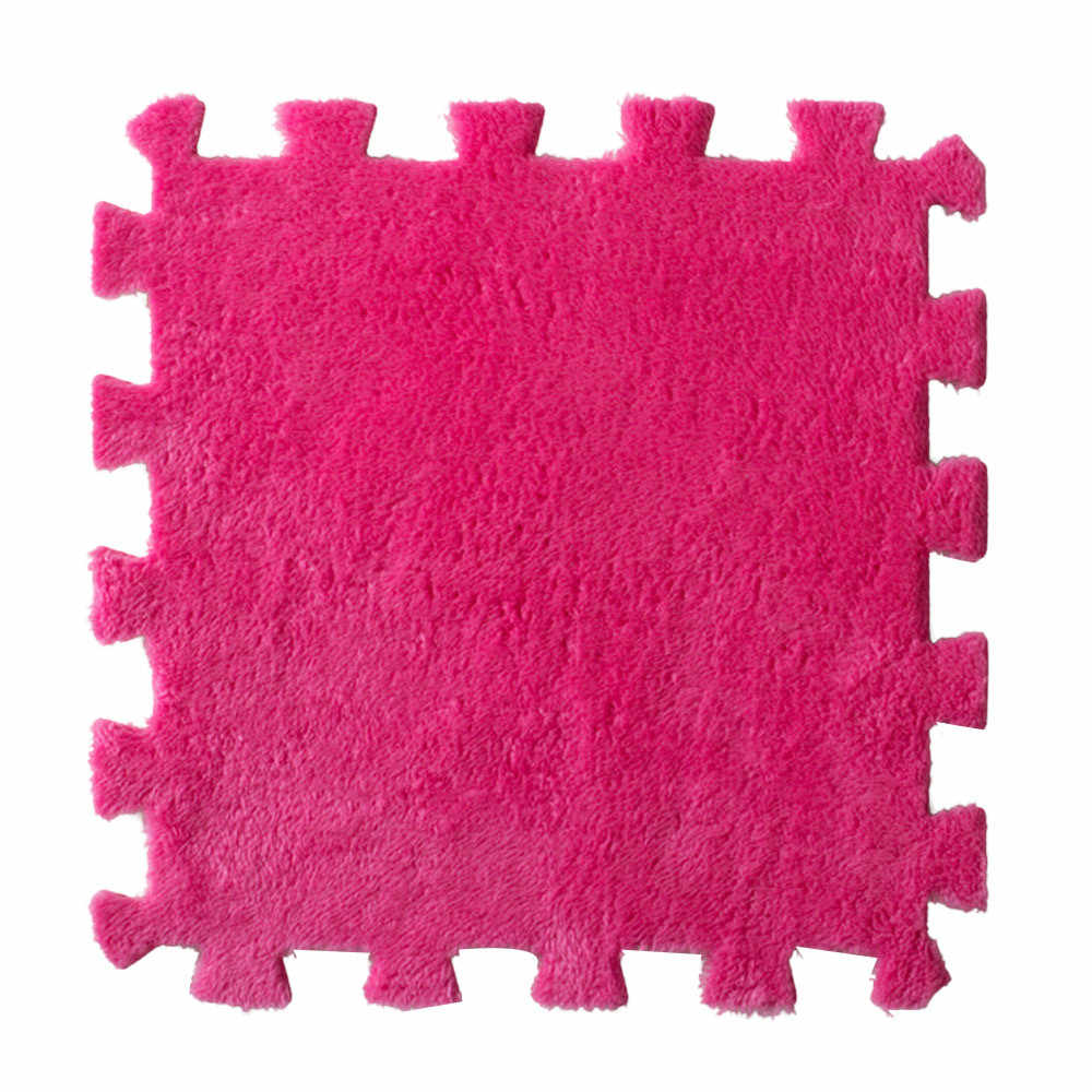 30*30 センチメートルのベッドルームの子供ソフトパッチワークスプライスベビーマット快適なフランネルマット tapetes パラカササラ #40505