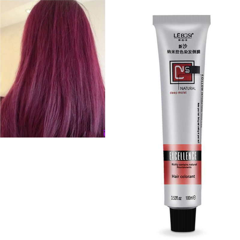Hot Sale Fashion 8 Colors 100g Hair Tint Semi Permanent Long Lasing Professional Hair Bright Cream Color Dye Paint NShopping image
