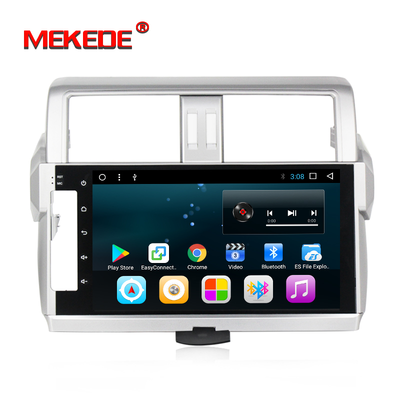 Android7 1 HD screen 1024 600 car font b multimedia b font player for Toyota Prado