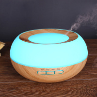 GXZ Ultrasonic Wood Grain Humidifier LED Lights Aroma Diffuser Essential Oil Diffusers Mist Maker Household Air