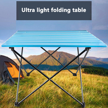купить New Portable Foldable Table Camping Hiking Outdoor Furniture Computer Bed Tables Picnic Aluminium Alloy Ultra Light Folding Desk дешево
