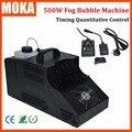 500W Fog Bubble Machine bubble blower fog smoke machine Wireless Remote/Timing Quantitative Control Fogger Sprayer