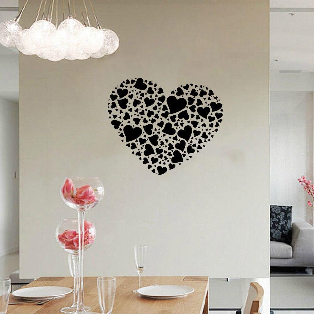 Carrelage Salle De Bain Dore ~ Diy Romantique Style Color Rose Coeur Murale Stickers Muraux Pour