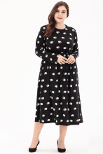 Large Size 6XL Autumn Dress 2018 Plus Size Midi Dress Casual knitting Loose Dresses Plus Size 5XL Women Clothing Big Sizes 4XL