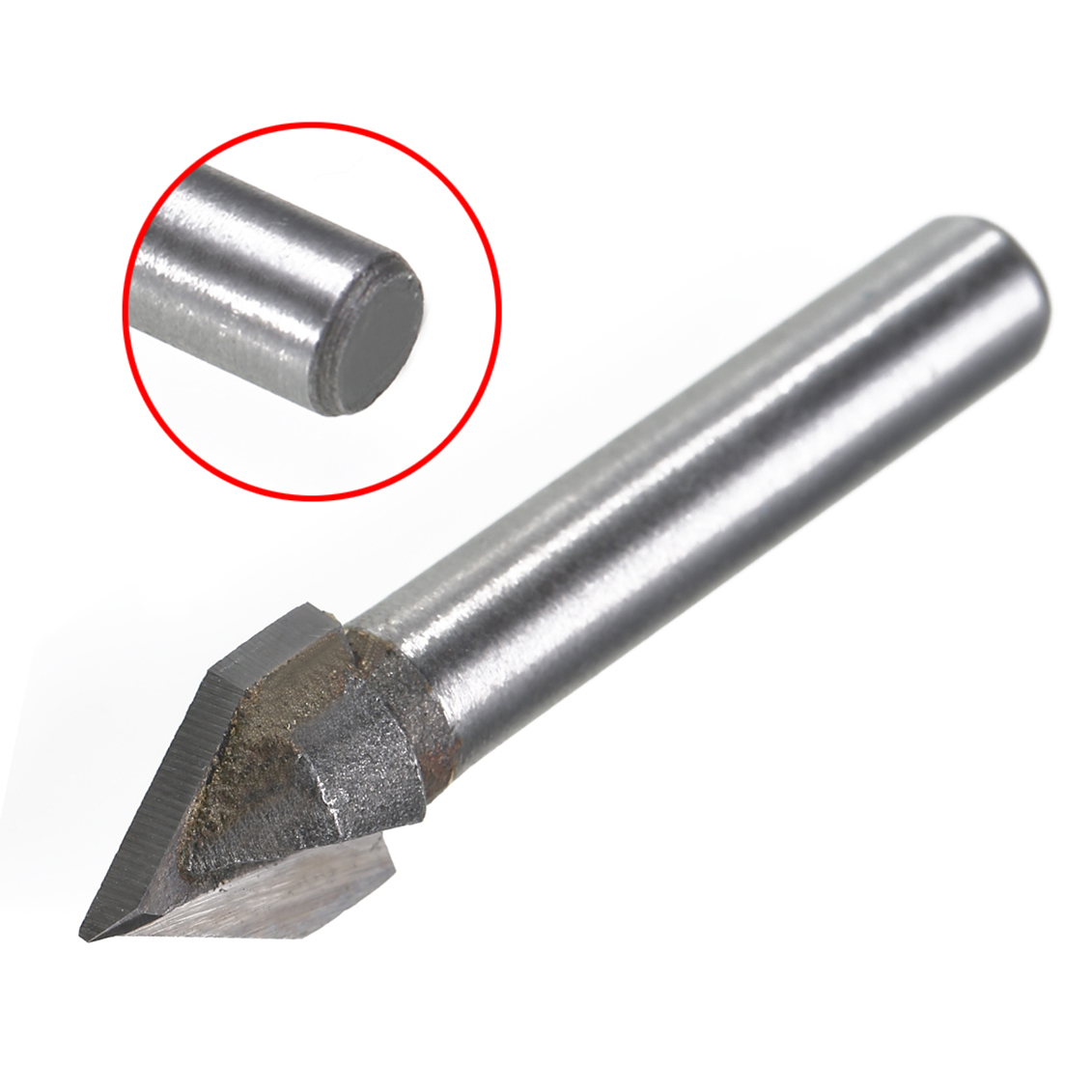 """1 Pc 60 Degree CNC V Groove Router Bit  1//4/"""" Shank Milling Cutter Engraving Tool"""