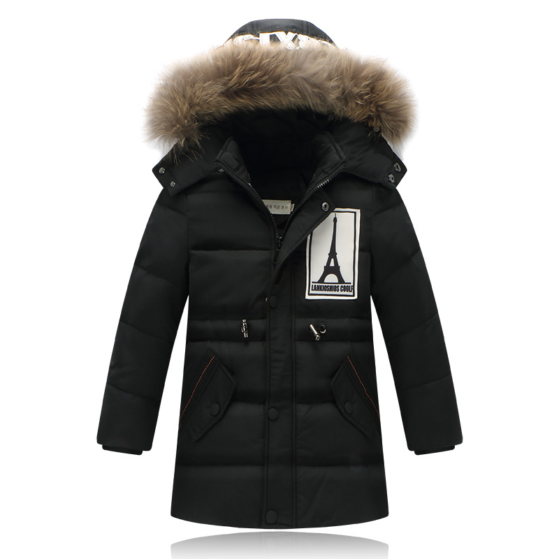 Fashion Boys down Jackets Coats for Winter warm 2017 baby boy thick duck Down coat real fur Children Outerwears for cold winter casual 2016 winter jacket for boys warm jackets coats outerwears thick hooded down cotton jackets for children boy winter parkas