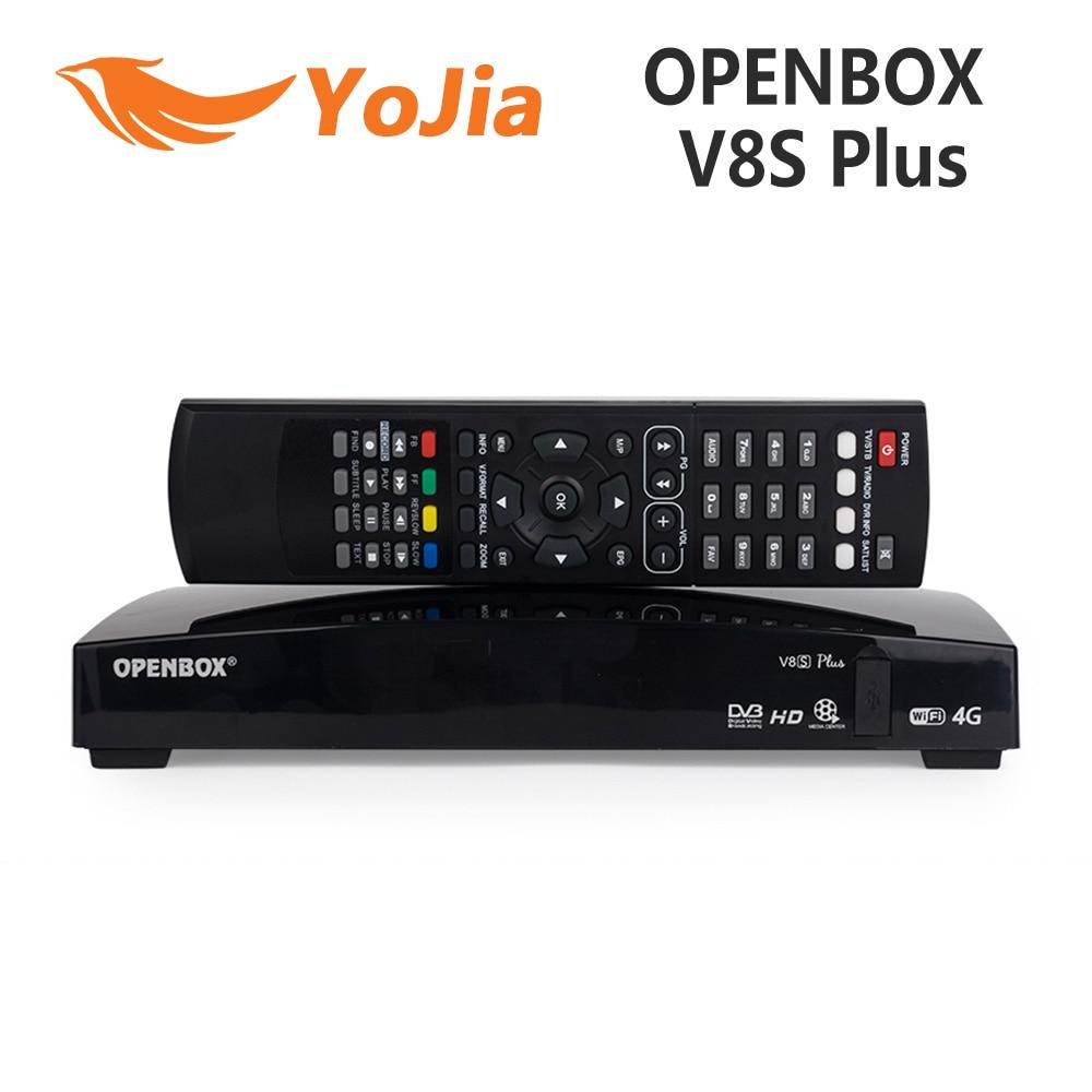 Openbox V8S Plus DVB-S2 Digital Satellite Receiver Support Xtream IPTV USB Wifi Youtube USB Wifi Biss Key CCCAMD MGCAMD