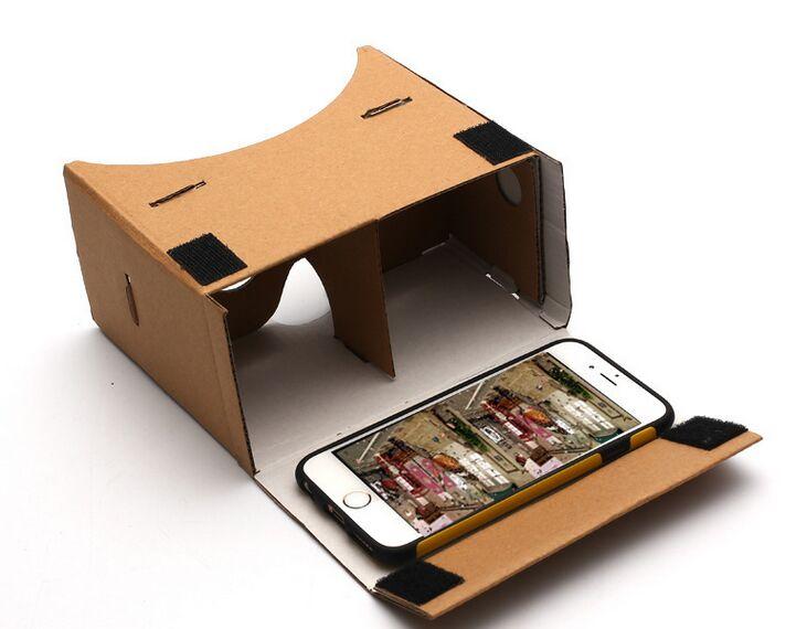 Alta qualidade diy google papelão realidade virtual vr telefone - Áudio e vídeo portáteis