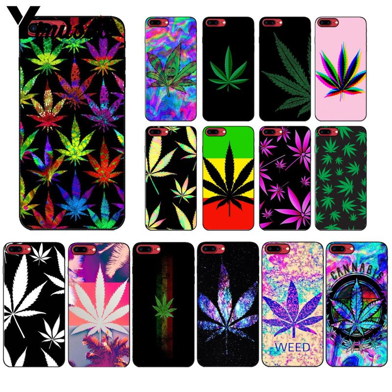 Yinuoda Art High Weed Pictures Black TPU Phone Case Cover for iPhone X XS MAX 6 6S 7 7plus 8 8Plus 5 5S XR