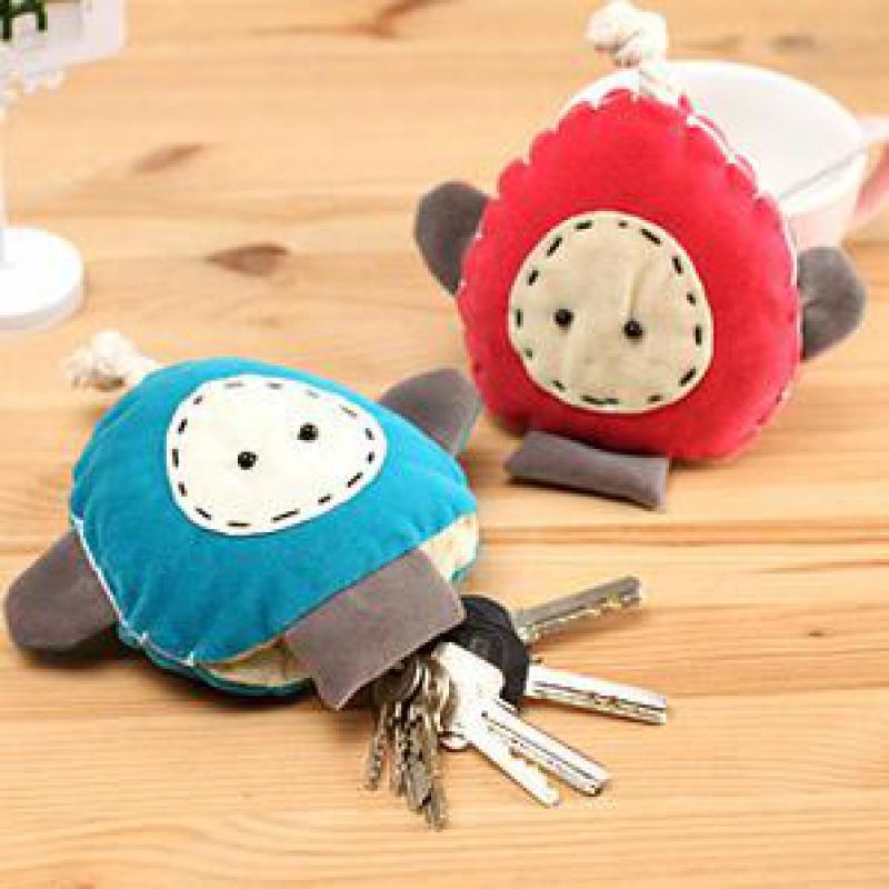 Cute Women Keychain Girl Creative Cartoon Key Holder Handmade Cloth Korean Key Wallet Bag