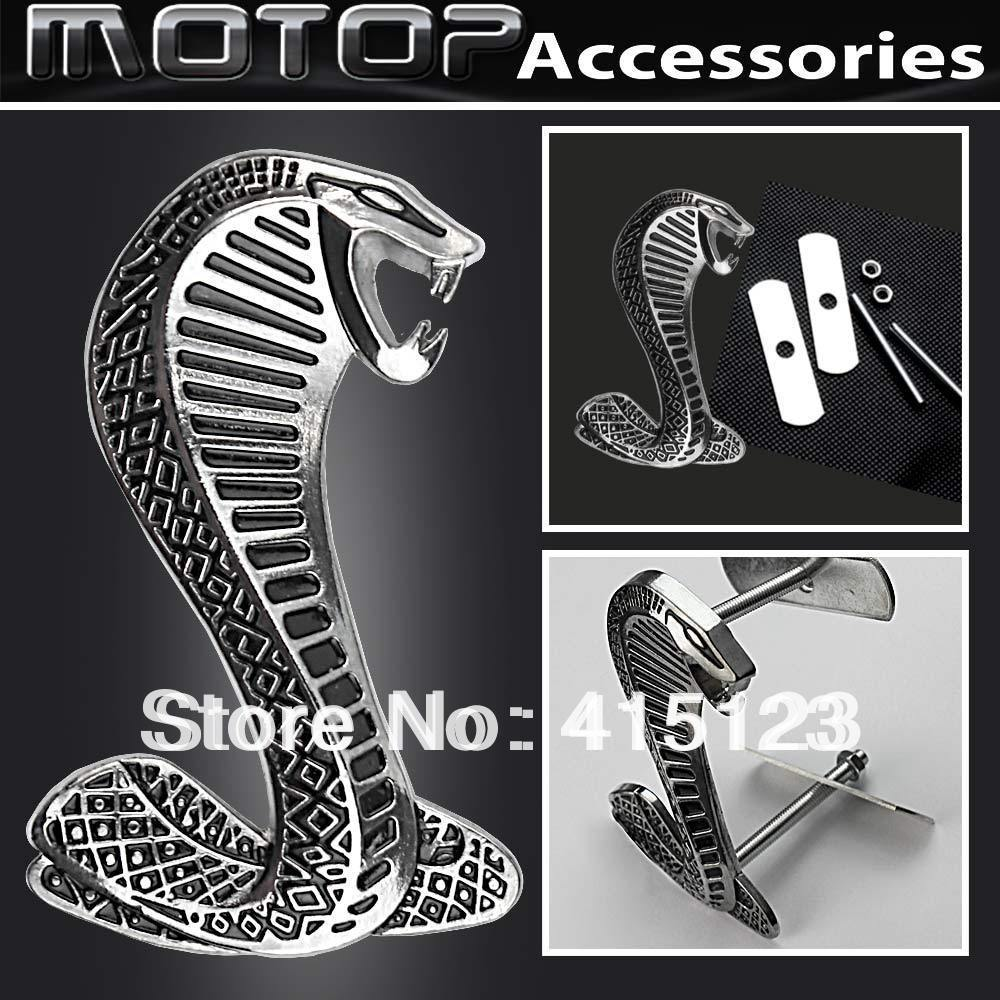 Cobra Logo 3d Metal Super Snake Racing Rally Front Hood Grille Badge