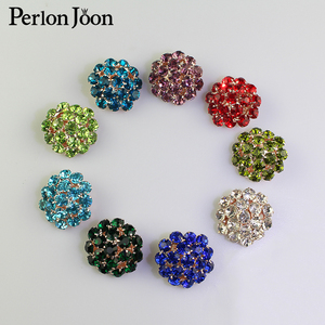 5PCS 26mm color crystal clothing button rhinestone button hemisphere button for women coat wedding decoration button NK006