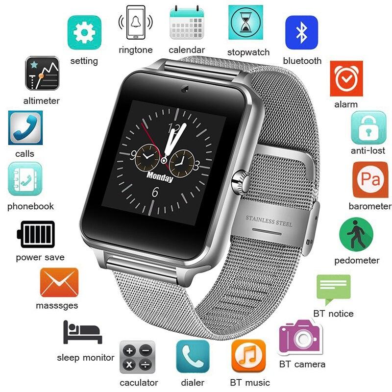 Men Smart Watch Women Electronic Digital Watch Sport Fitness Watch Support SIM TF Card With Camera+Box