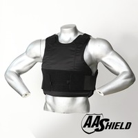 AA Shield Ballistic Suit Body Armour Vest Comfortable Bullet Proof UHMWPE Core Insert Safety Black Level NIJ IIIA M/L