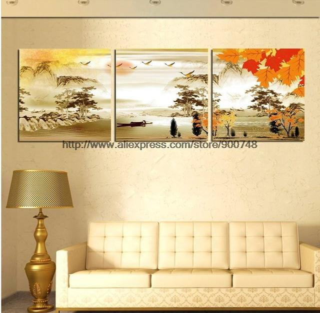 3 Piece Wall Art Trees Love Poetic Hometown The Most Beauty Home ...