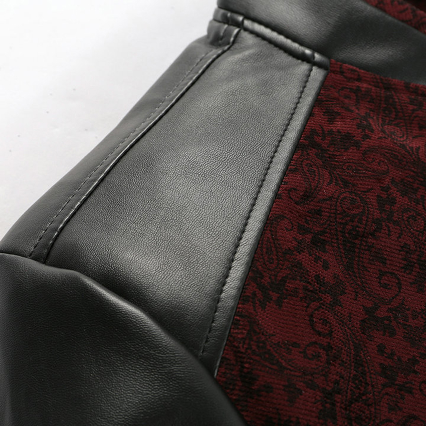 Mountainskin PU Leather PatchworkJacket 5
