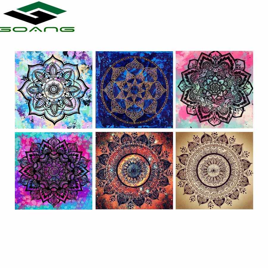 GOANG 5D diy diamond painting cross stitch Diamond embroidery flowers full square diamond Mosaic paintings home Decor Mandala