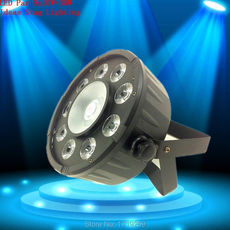 10pcs/lot Fast Shipping  LED Par 9X10W RGB+30W RGB COB LED DJ Wash Light Stage Uplighting No Noise Free Shiping fast shiping for choosing