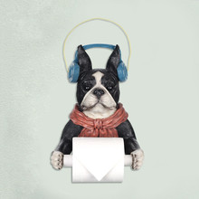 Dogs Bathroom Musical Toilet Paper Holder
