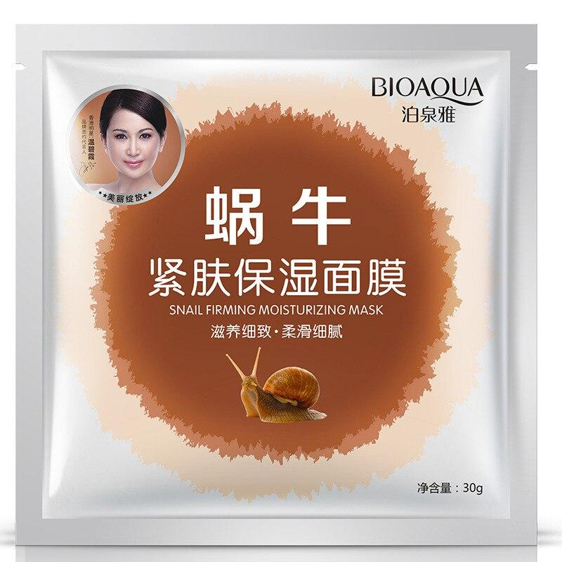 BIOAQUA Snail Firming Facial Masks Moisturizing Oil Control Shrink Pores Face Mask Whitening Skin Care
