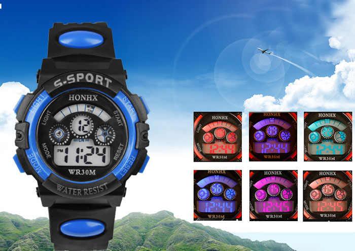 Reloj deportivo para hombre a prueba de agua a la moda Digital LED cuarzo alarma fecha deportes reloj de pulsera multifuncional horas reloj