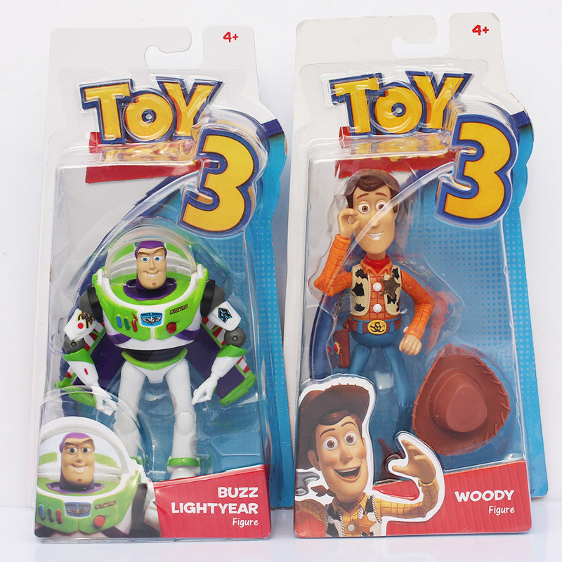 Toy Story 3 Woody Buzz Lightyear PVC Action Figure Collectible Model Toy Doll original toy story 3 buzz lightyear robot light voice elastic wings 30cm action music anime figure kids toys for children p2