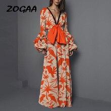 ZOGAA Casual Elegant Rompers Womens Jumpsuit Long Pants Overalls Summer Boho Bodycon Wide Leg Combinaison