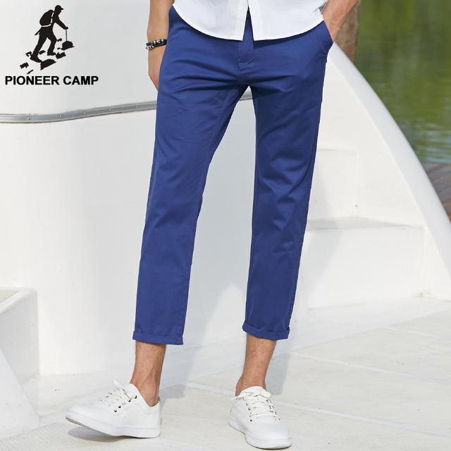 Pioneer camp 2017 versão de moda masculina calça casual calças finas de algodão de verão calças nona calças soft & respirável dos homens famosa marca 655115