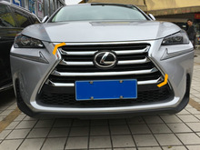 Chromed ABS Plastic 7PCS Front Center Grill Grille Trim Cover For LEXUS NX200T NX300H 2015 2016