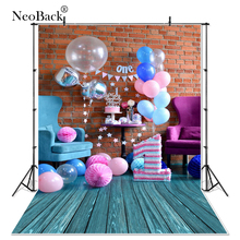 NeoBack Thin vinyl cloth New Born Baby Photography Backdrop children kids backdrops Printing Studio Photo backgrounds P1453 цены