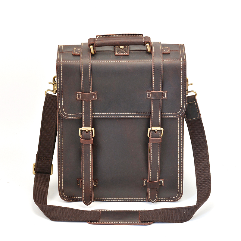 Crazy Horse Genuine Leather Backpack for Men 14 Laptop Daypack Large Capacity Male Travel Tote Bag Vintage School Shoulder BagCrazy Horse Genuine Leather Backpack for Men 14 Laptop Daypack Large Capacity Male Travel Tote Bag Vintage School Shoulder Bag