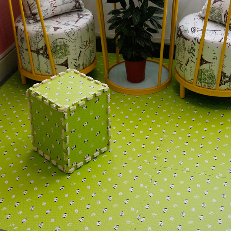 Cut Dog 4Pcs Set 6060cm1cm Bedroom Eva Puzzle Mats Square Carpets For Living Room Bathroom Anti Slip Waterproof Foam Rug