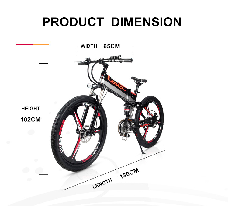 HTB1egUTgP3z9KJjy0Fmq6xiwXXaJ - 21 Velocity, 26 inches, 48V/15A, 350W, Folding Electrical Bicycle, Mountain Bike, Lithium Battery, Aluminum Alloy Body, Disc Brake.