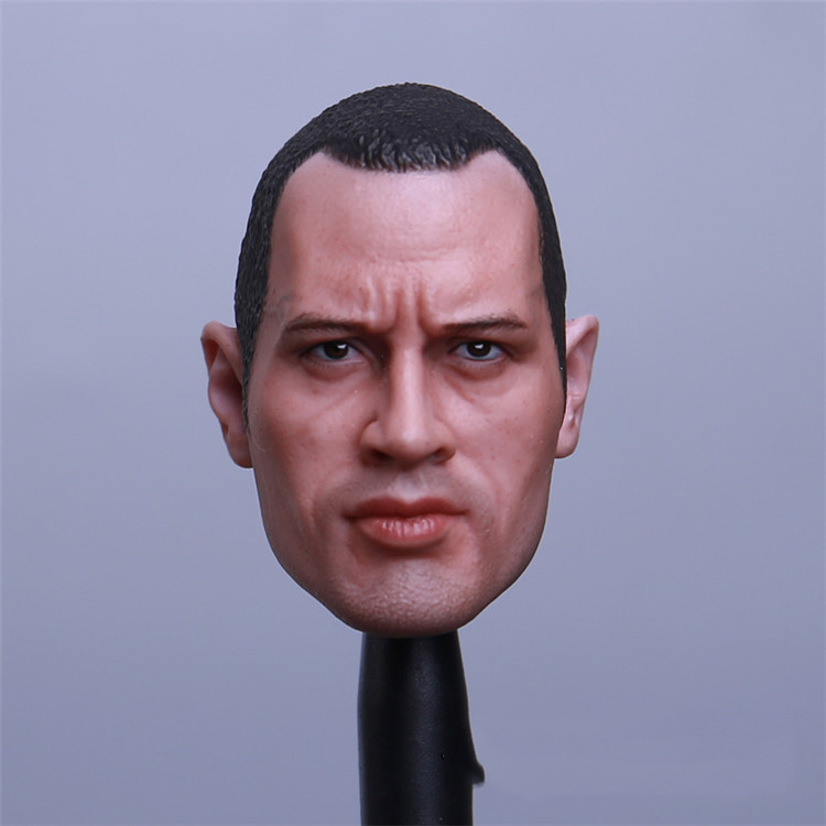 купить 1/6 Boulder Qiang Sen Head Carving Young Short Hair Version with Hair Soldiers Model Fit 12