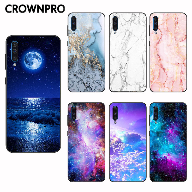 CROWNPRO Matte Silicone TPU FOR Funda <font><b>Samsung</b></font> <font><b>Galaxy</b></font> <font><b>A50</b></font> Case Cover Back Shell Case FOR <font><b>Samsung</b></font> <font><b>A50</b></font> <font><b>A505</b></font> A505F 2019 Phone Cases image