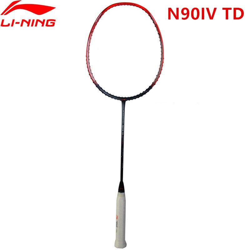 Li Ning N90IV TD ракетки для бадминтона 3D расписанию профессиональных Li Ning спортивные ракетки AYPM322 L847OLA