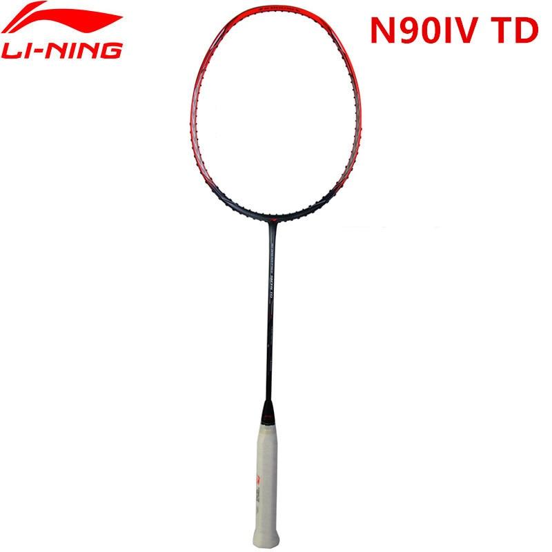 Li-Ning N90IV TD Badminton Racket 3D Breakfree Professional Li Ning Sports Racquets AYPM322 L847OLA quality broken wind chinese dragon badminton rackets carbon fiber professional offensive racquets single racket q1013cmk