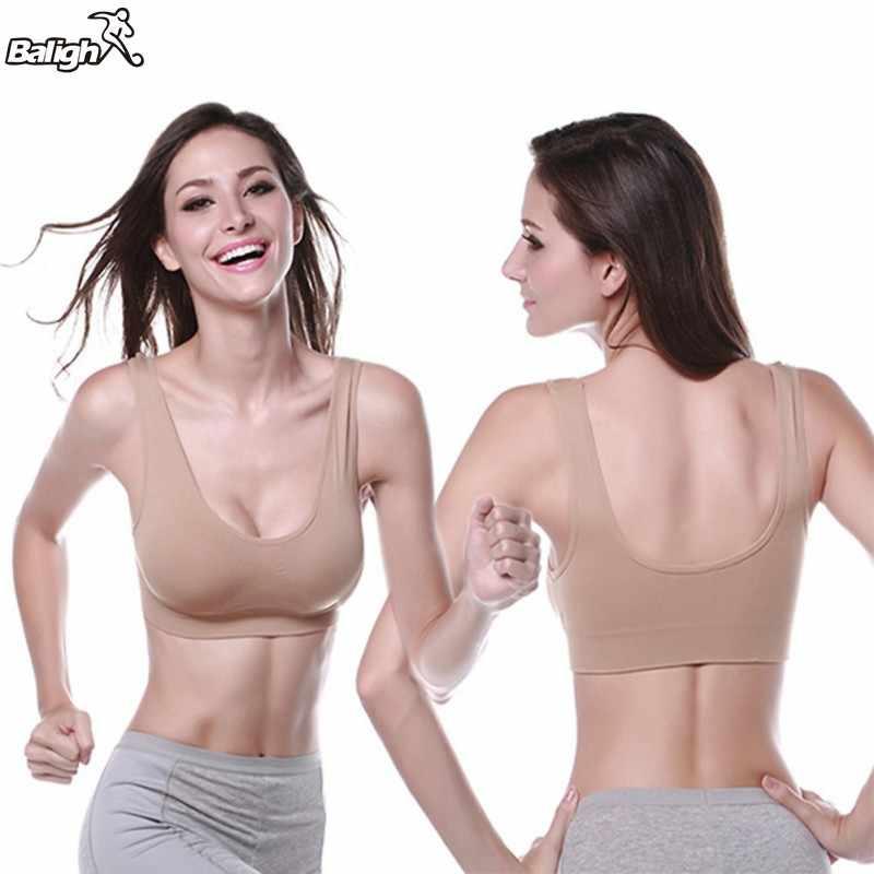 2018 المرأة مثير سليم صالح اليوغا سترة رياضية حمالات الصدر الملابس الداخلية مبطن أعلى سلس حمالات الصدر