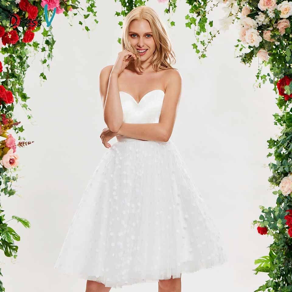 Ruching Wedding Gowns: Dressv Elegant Sweetheart Neck Wedding Dress Sleeveless