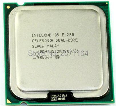 Для Intel Celeron Двухъядерный 775-контактный двухъядерный E1200 e1400 Настольный ПК ПРОЦЕССОР