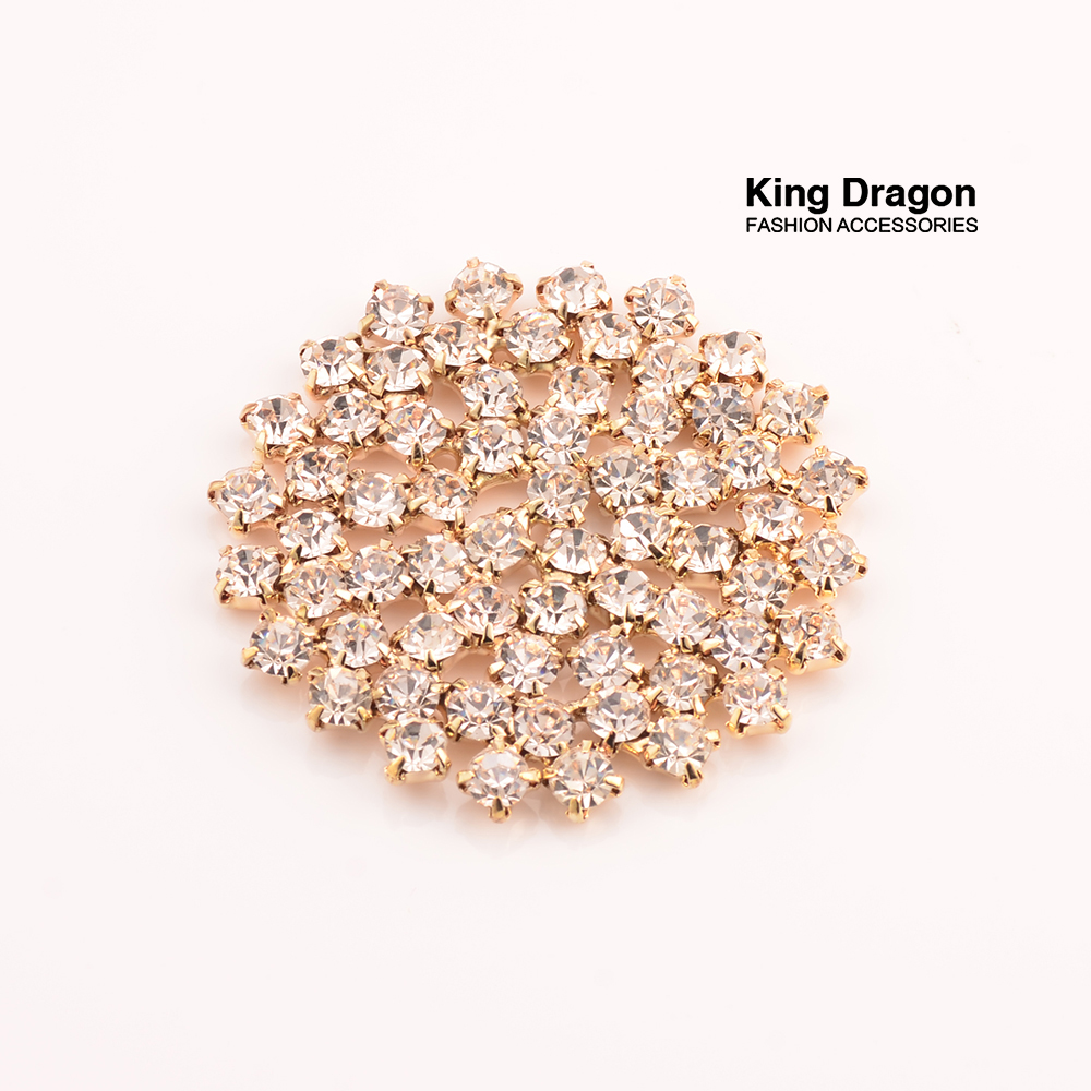 Rhinestone Embellishment Used On Invitation Card Decoration Buttons 45MM 20pcs/lot Gold Color Flat Back