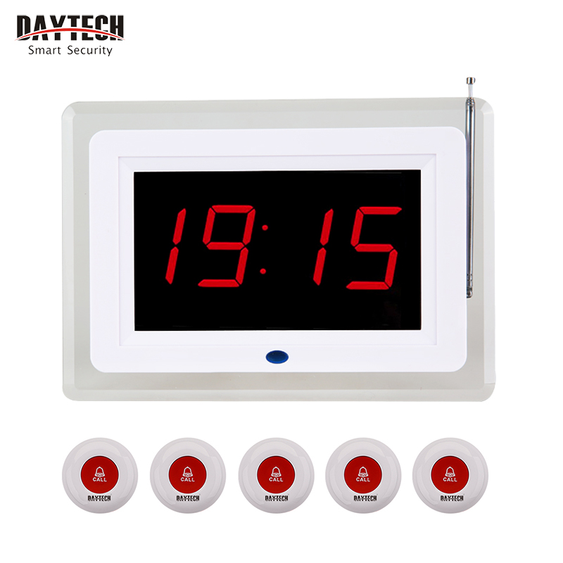 DAYTECH Coaster Pager Restaurant Queuing Paging Transmitter 433 MHZ Service Calling System Call Button