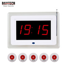 DAYTECH Coaster Pager Restaurant Queuing Paging Transmitter 433 MHZ Service Calling System Call Button(China)