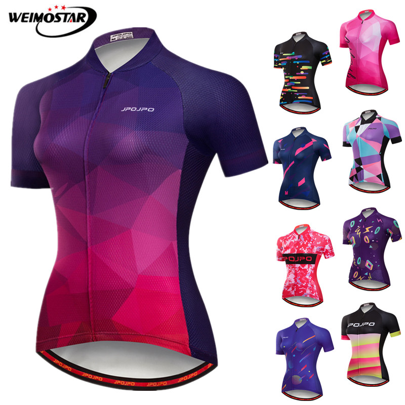 Weimostar Women Cycling Jersey 2019 Pro Team Bicycle Shirt Summer Mountain Bike Clothing Quick Dry mtb Bike Jersey Ropa Ciclismo