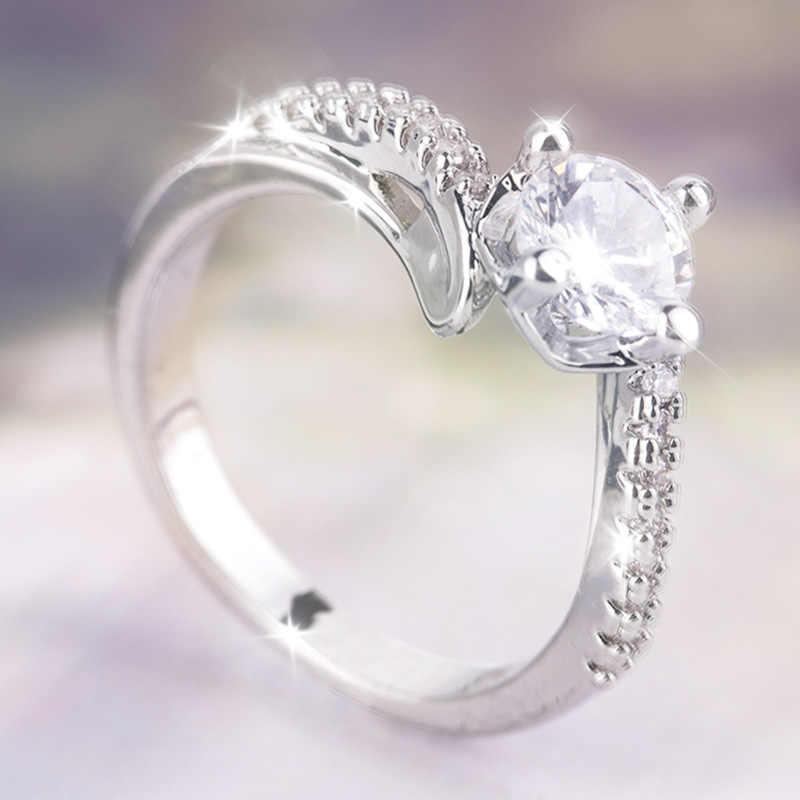 נשים של קלאסי טבעת בציר AAA זירקון תכשיטי 925 כסף סטרלינג חתונת אירוסין כלה טבעת תכשיטים סיטונאי