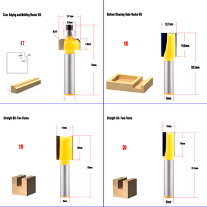Image 5 - 1pc 8mm Shank wood router bit Straight end mill trimmer cleaning flush trim corner round cove box bits tools Milling Cutte CHWJW